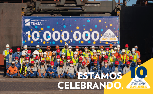 TIMSA celebra 10 millones de toneldas de carga mineral